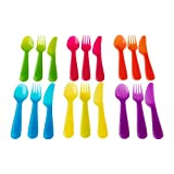 IKEA 4260179700644 KALAS Besteck, polypropylene, mehrfarbig, 18 x 14 x 3 cm, 18 Einheiten