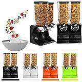 Ballino– Spender aus Kunststoff, für Cornflakes, Müsli oder andere trockene Lebensmittel, durchsichtiger Doppelbehälter, auch für Haustierfutter oder Kaffeebohnen Double Green