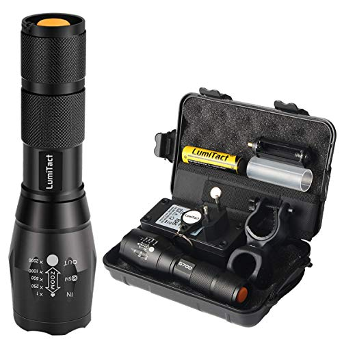 Lumitact G700 LED Taktische Taschenlampe, Super Helle 1000 Lumen CREE LED taschenlampen, Wiederaufladbar aufladbar Fackel für Camping, Wandern und Notfälle