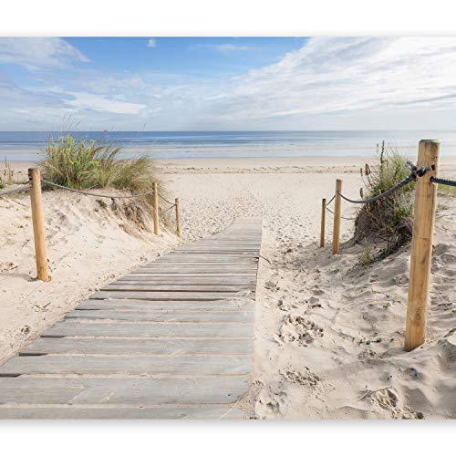 murando - Fototapete selbstklebend Strand und Meer 343x256 cm - decor Tapeten Wandtapete klebend Klebefolie Dekofolie Tapetenfolie - Landschaft Natur c-B-0005-a-b