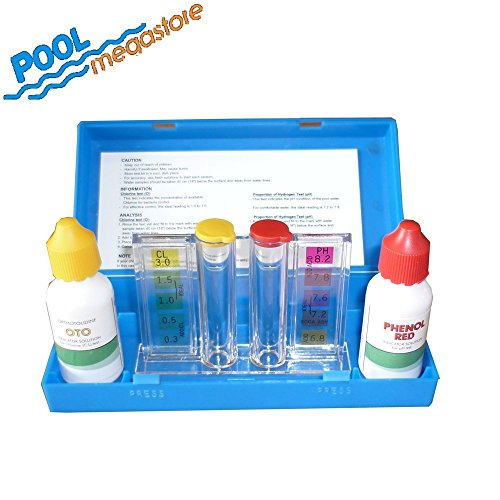 Testkit Pooltest Test Chlor+pH Schwimmbad Pool Schwimmbecken Waterclear