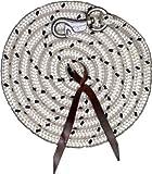 Reitsport Amesbichler Bodenarbeitsseil Länge 3,2 m Bodenleine Führseil mit Bull Snap Pferdeausbildungsstrick Western Rope für Horsemanship und Bodenarbeit weiß/schwarz