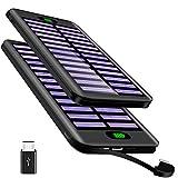 Powerbank 16000mAh, VNOOKY Externer Akku Battery Pack mit 3 Input und Integriertem 2.4A Micro Kabel Tragbares Solar Ladegerät Handy für das Android/IOS Phone, Tablette, andere Smartphones/Handys