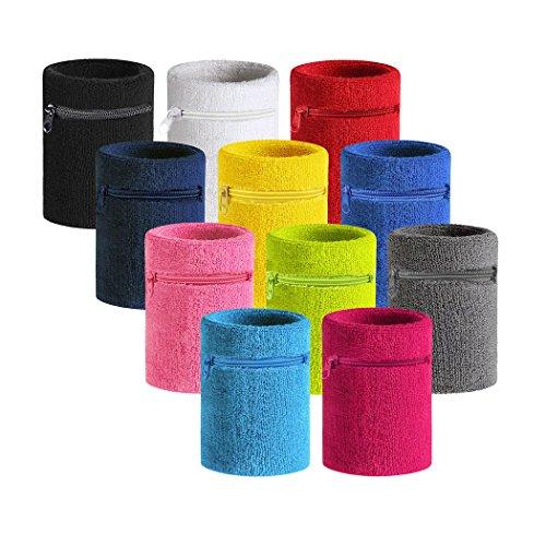 VENI MASEE Sport Dick Solid Color Armband mit Reißverschluss / Wrist Wallet, Preis / Stück