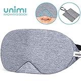 Unimi Baumwolle Schlafmaske Damen und Herren, 2019 neue Design Premium Augenmaske Nachtmaske,100% Lichtschutz, super weich und bequem, Augenschutz für Reisen, Schichtarbeit und Nickerchen.