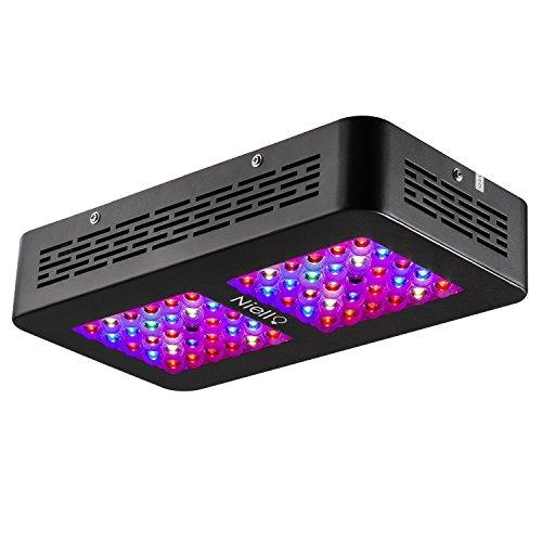 Niello Optical Lense Series LED Pflanzenlampe 300W Dual LED Grow Light Full Spectrum Wachsen mit 2 Schalter für Zimmerpflanzen Gemüse und Blumen