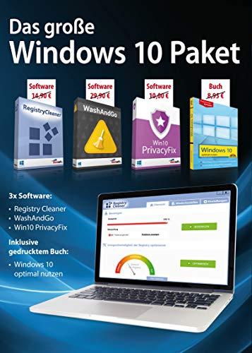 Das große Windows 10 Paket - Registry Cleaner, Tuner und Buch in einem Paket für Windows 10 / 8 / 7
