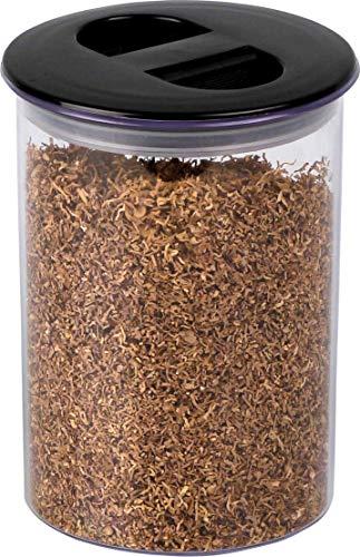 Lifestyle-Ambiente Tabakdose Kunststoff mit Vakuumdeckel für z.B. Pfeifentabak inkl Tastingbogen