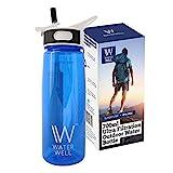 """WaterWell Filtrierende Wasserflasche für Reisen und Abenteuer – Entfernt 99,9% aller Bakterien und Parasiten im Wasser – Perfekt für Reisen, Camping, Outdooraktivitäten, Sport und den täglichen Gebrauch"""""""