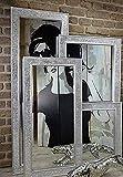 Livitat Wandspiegel Spiegel Mosaik Badspiegel mit Glasmosaik Crackle (140 x 50 cm Mosaik, Silber)