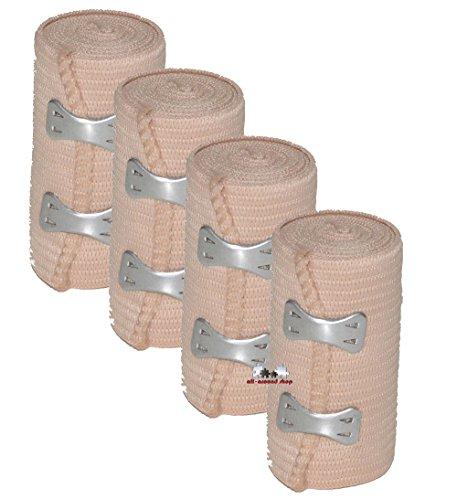 4 Stück all-around24 Elastikbandage Bandage Sportbandage Stützbandage Sportbinde (4)