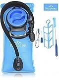 Bergcamp Trinkblase & Reinigungsset - Wasserdichte Blase ideal für den Rucksack zum Wandern, Campen oder Radfahren, geschmacklos, große Öffnung, Trinksystem Outdoor (3L)