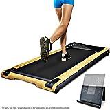 DESKFIT DFT200 Laufband für / unter Schreibtisch. Fit und gesund im Büro & zu Hause. Bewegen und ergonomisches Arbeiten, keine Rückenschmerzen. Mit praktischer Tablet-Halterung, Fernbedienung und App (Hellbraun)
