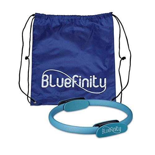 Bluefinity Pilates Ring, Doppelgriff, Gepolstert, D: 39 cm, Fiberglas, Schaumstoff, Yoga Circle, Widerstandsring, türkis