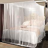 Moskitonetz, yotame rechteckiger Mückennetz für Bett, Reise Moskitonetz Hochwertig Feinmaschig für Doppelbett, Betthimmel für Moskitoschutz, Insektenschutz auf der Reise, Grösse: 220 x 200 x 210 cm