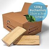 120 kg Brennholz Kaminholz Feuerholz reine Buche ofenfertig kammergetrocknet in 25cm