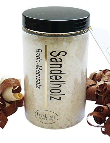 Sauna Salz Sandelholz mit Jojobaöl, Körperpeeling 400 g