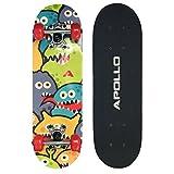 Apollo Kinderskateboard Monsterskate, kleines Skateboard für Kinder, 51 cm lang
