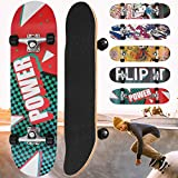 Physionics Skateboard | 31' (78,7cm), Kugellager: ABEC 5, Designwahl | Retro-Board, Mini Cruiser, Cruiser Board, Komplettboard - Power