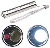 PEARL Stabtaschenlampe: 2in1-LED-Taschenlampe & Laserpointer, Edelstahl-Gehäuse, 15 Lumen (Taschenlampe mit Laser)