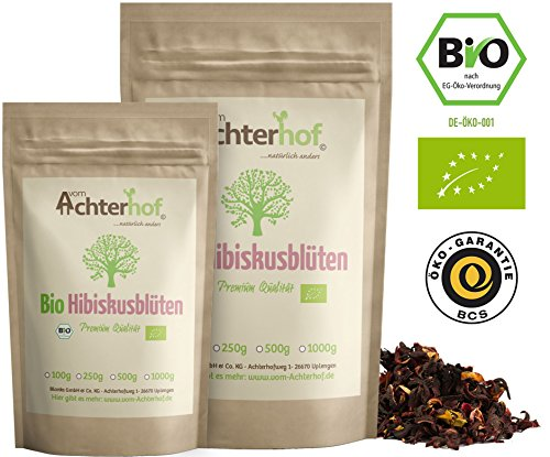 Bio Hibiskusblüten Tee (500g) ganz getrocknet Hibiskusblütentee hibiscus flowers organic