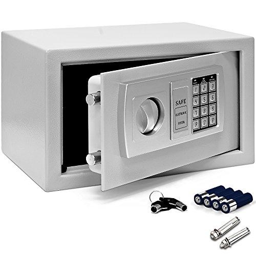 Tresor Safe mit Elektronik-Zahlenschloss 31x20x20cm LED-Anzeige Stahlbolzen 5,15kg