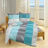 Bierbaum Single Jersey Bettwäsche 3105 Aqua 1 Bettbezug 135x200 cm + 1 Kissenbezug 80x80 cm