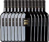 12er Weinpaket Italien - Sessantanni Primitivo di Manduria 2015 - Cantine San Marzano mit VINELLO.weinausgießer   halbtrockener Rotwein   italienischer Rotwein aus Apulien   12 x 0,75 Liter