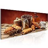 murando Bilder 120x40 cm - Vlies Leinwandbild - 1 Teilig - Kunstdruck - Modern - Wandbilder XXL - Wanddekoration - Design - Wand Bild - Kaffee j-A-0059-b-c