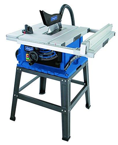 Scheppach Tischkreissäge HS105, vielseitige Kreissäge mit HW-Sägeblatt 255 mm, Tischverbreiterung und robustem Untergestell, 2000 W, 5901308901