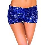 Pailletten Shorts Luckycat Sommerhosen Damen Kurz Mode Frauen Hohe Taille Yoga Shiny Sport Hosen Shorts Metallic Hosen Shorts Hose Sommerhosen Shorts Hosen