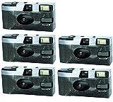 Einwegkamera 5-er Pack - Klassik Kameralook - mit Blitz