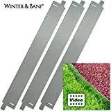 Winter & Bani Rasenkanten | 3 Stück | Metall | Gesamtlänge zusammengesteckt 3 Meter | Stabil Aber biegsam | mit Video-Anleitung
