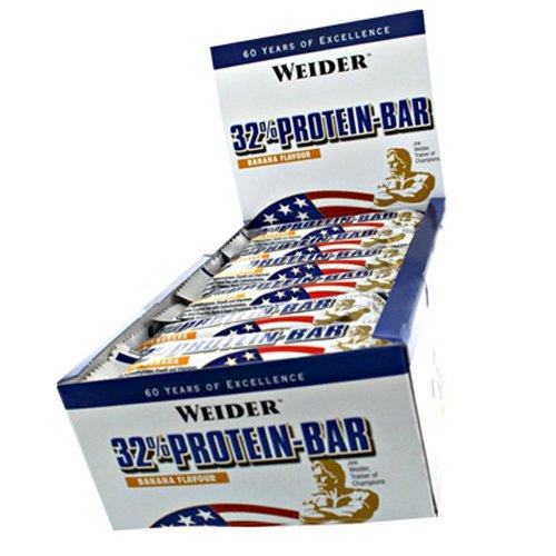 Weider 32% Protein Riegel 60g Banane 10er Pack 10x 60g, Banane