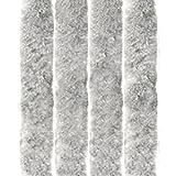 Arsvita Flausch-Vorhang, viele Variationen, Größe: 100x200 cm, Farbe: Silbergrau