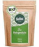Bio-Reisprotein-Pulver (Bio,1kg) - 100% Rein - vegane Proteinquelle ohne Zusätze - Frei von Gluten, Soja und Lactose - Hoher BCAA Anteil - Abgefüllt und kontrolliert in Deutschland (DE-ÖKO-005)