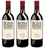 Biowein Bonarossa Rotwein Nero D'Avola Sizilien Italien 2017 Trocken Vegan (3 x 0.75l)