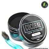 Natürliche Kokosnuss Aktivkohle Zahnaufhellung COCOBAE – Weiße Zähne 100% REIN & VEGAN|PREMIUM Qualität|Einfach auf die Zahnpasta|Bleaching für die Zähne|inkl. Zähne aufhellen E-Book