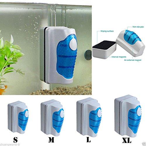 Praktischer Magnet-Scheibenreiniger für das Aquarium - Reinigungswerkzeug gegen Algen