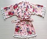 rose blühen rosa blumen - mädchen gewand - baby bademantel mit spitzen schneiden blumenmädchen gewand blumenmädchen geschenk babyparty geschenk - rayon stoff
