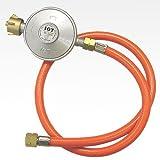 Gas Niederdruckregler 50mbar + Gasschlauch Neu