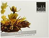 Feelino Bedida Edle Special-Edition 6er-Box Weißtee-Teeblumen mit je 2 Blüten in Probier- und Geschenkbox mit 6 Weißtee-Teerosen, einzeln verpackt für max. Frische