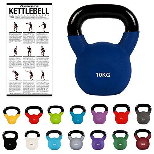 Kettlebell Professional Neopren 2 – 30 kg inkl. Übungsposter Kugelhantel