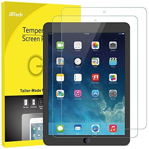 JETech 2-Stück panzerglas für iPad (9,7-Zoll, 2018/2017 Modell), iPad Air 1, iPad Air 2, Schutzfolie Gehärtetem Glas Displayschutzfolie