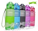 Temfly Trinkflasche - Trinkflasche Kinder - 500ml/700ml/1l - BPA Frei & Sport Wasserflasche Auslaufs (500-Grün, 500ml)