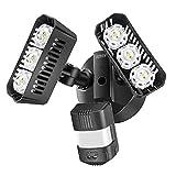 Sansi LED Aussenstrahler mit Bewegungsmelder, LED Strahler mit einstellbarem Bewegungsmelder 27W 2700LM IP65 Wasserdichtes Flutlicht 5000K Tageslichtweiß Wandlampe für Draussen, Hinterhöfe, Garten
