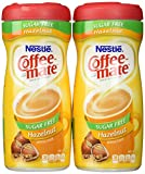 Coffee-Mate, Sugar Free Hazelnut, Powdered Coffee Creamer, 10.2oz Canister (Pack of 2) by Coffee-Mate