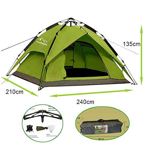 Campmore Wurfzelt Sekundenzelt 2-3 Person Outdoor Camping Tent 240x210x135cm (Grün)