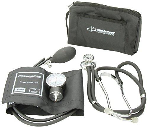 Primacare Medical Supplies DS-9181 Blutdruckmessgeräte-Set mit Sprague-Rappaport-Stethoskop, Schwarz