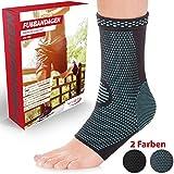 Vigo Sports 7-Zonen Fußbandage (2 Stück) – Kompressionssocken für effektive Schmerzlinderung auch bei Fersensporn & Bänderriss – Sprunggelenk Bandage für Stabilität an Knöchel & Mittelfuß (XL)